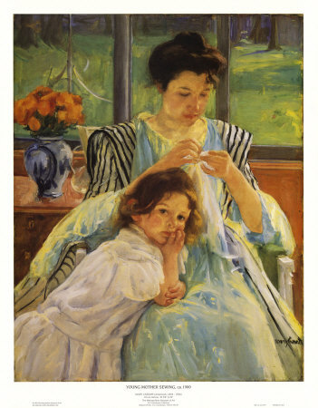 G2179~Young-Mother-Sewing-Posters