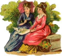 Two-women-reading