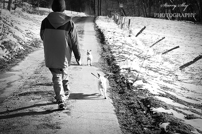 Aidan dog walk feb 11bw700